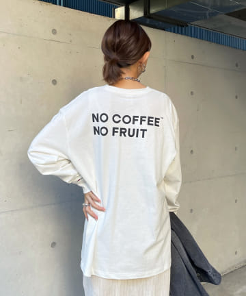 DOUDOU(ドゥドゥ) 【NO COFFEE×FTL】ポケット付きL/S Tシャツ