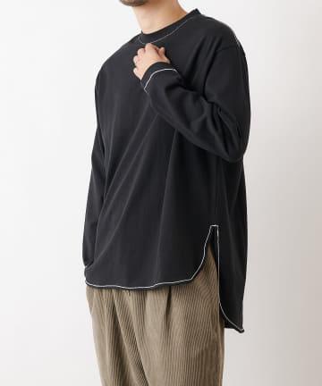 COLONY 2139(コロニー トゥーワンスリーナイン) 10/OE配色ステッチ前後差長袖Tシャツ※ユニセックス対応