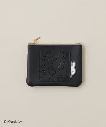 natural couture(ナチュラルクチュール) Pocket miffy ミニフラットポーチ