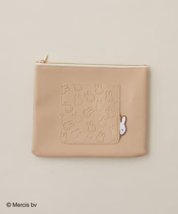 natural couture(ナチュラルクチュール) Pocket miffy フラットポーチ