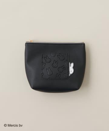 natural couture(ナチュラルクチュール) Pocket miffy 台形ポーチ