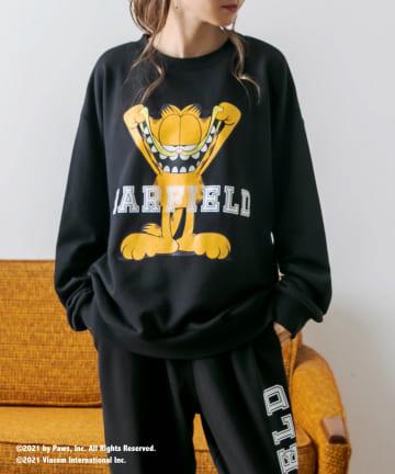 RASVOA(ラスボア) 【Garfieldコラボ】カレッジルームスウェットトップス