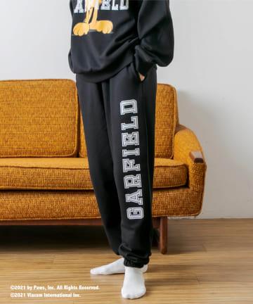 RASVOA(ラスボア) 【Garfieldコラボ】カレッジルームスウェットパンツ