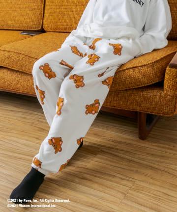 RASVOA(ラスボア) 【Garfieldコラボ】総柄ルームスウェットパンツ