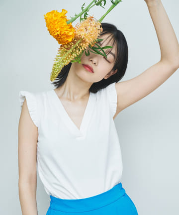 OUTLET(アウトレット) 【SCENE by ciaopanic】2WAYフリルTシャツ