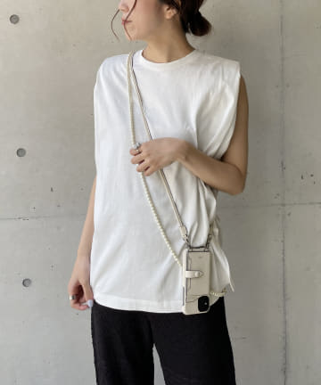 OUTLET(アウトレット) 【CAPRICIEUX LE'MAGE】ショルダーパッドTシャツ