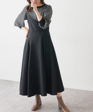 natural couture(ナチュラルクチュール) 【大好評リバイバルアイテム】バックリボンパイピングキャミワンピース