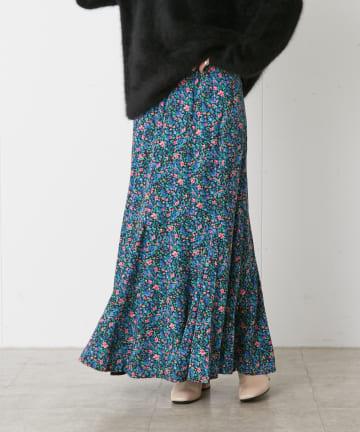 Omekashi(オメカシ) フラワー切替マーメイドスカート
