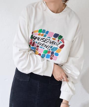 Discoat(ディスコート) LEE IZUMIDA × DISCOAT ビッグロングTシャツ【ユニセックス】