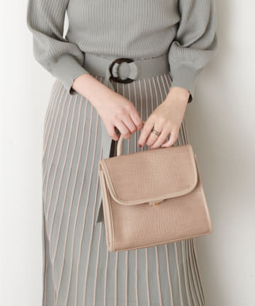 natural couture(ナチュラルクチュール) トップハンドルレトロバッグ
