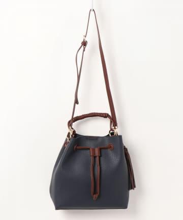 natural couture(ナチュラルクチュール) 巻きハンドルドロストショルダーバッグ