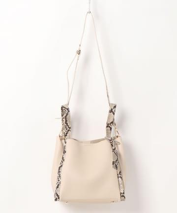 natural couture(ナチュラルクチュール) ミニショルダー付きソフトレザー調ミニバッグ