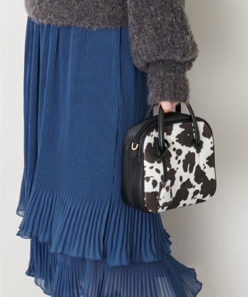 natural couture(ナチュラルクチュール) ボックス型アソートボストンバッグ