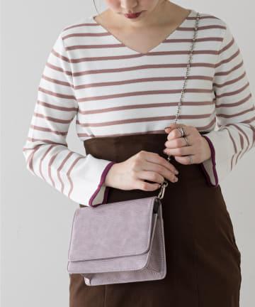 natural couture(ナチュラルクチュール) ボールチェーンミニショルダーバッグ