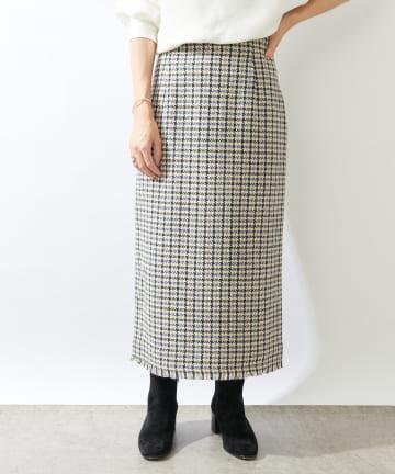 SHENERY(シーナリー) ガンクラブチェックミモレタイトスカート