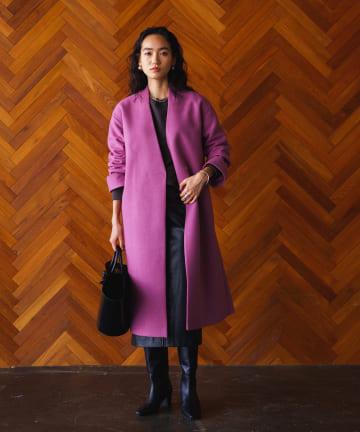 Loungedress(ラウンジドレス) ジャージーノーカラーコート