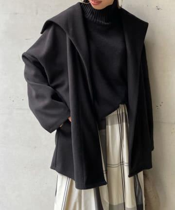 DOUDOU(ドゥドゥ) セーラー襟ショートコート