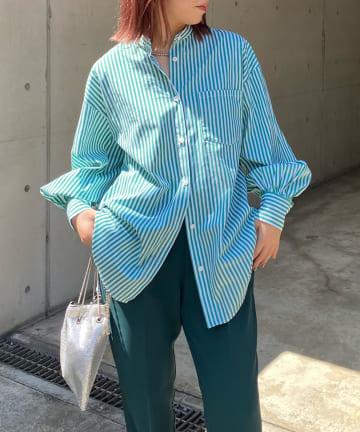 DOUDOU(ドゥドゥ) 【WEB限定】ストライプシャツ
