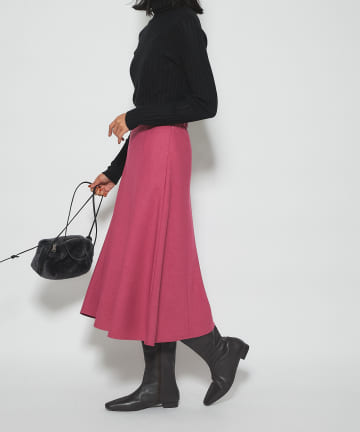 RIVE DROITE(リヴドロワ) 【女性らしいライン】フランネルフレアースカート