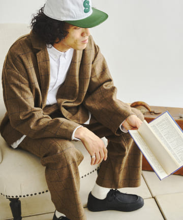 CPCM(シーピーシーエム) 【同シリーズでセットアップ可能】起毛チェックテーラードジャケット