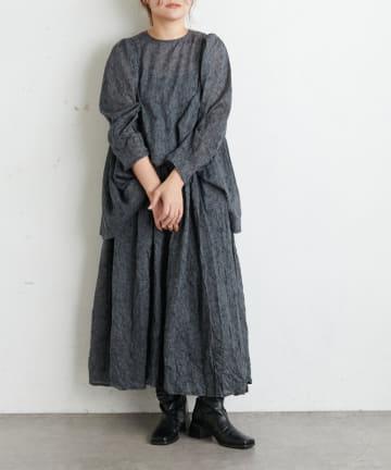 pual ce cin(ピュアルセシン) 線描きプリントスカート