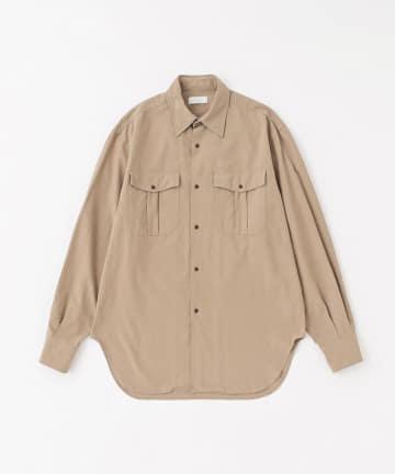 BLOOM&BRANCH(ブルームアンドブランチ) Phlannèl / Basket Weave Military Shirt