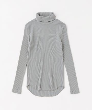BLOOM&BRANCH(ブルームアンドブランチ) Phlannèl / Cotton Silk Rib Turtleneck