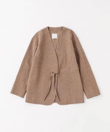 BLOOM&BRANCH(ブルームアンドブランチ) Phlannèl / Loop Yarn Collarless Jacket