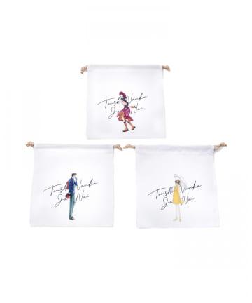 3COINS(スリーコインズ) 【天使なんかじゃない】巾着3枚セット