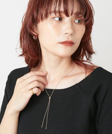 Omekashi(オメカシ) スライドパーツスネイクチェーンネックレス