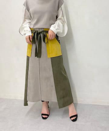Jena espace merveilleux(ジェナ エスパスメルヴェイユ) 予約【WEB限定カラー】ハトメスエードスカート