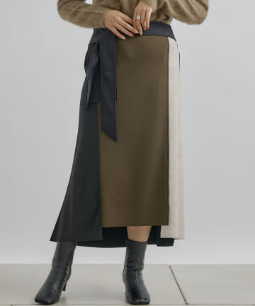 Jena espace merveilleux(ジェナ エスパスメルヴェイユ) 〔予約〕ボンディングリボンスカート