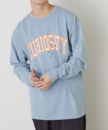 Discoat(ディスコート) 【CURIOSITY】ミニ裏毛スプラッシュプリントプルオーバー