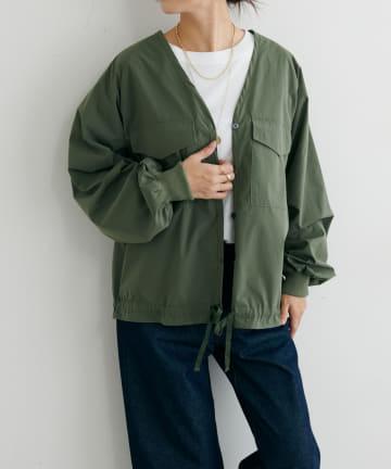 BONbazaar(ボンバザール) 前開き裾リボンシャツ