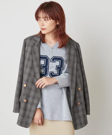 Omekashi(オメカシ) ナンバーリング2WAYロングTシャツ