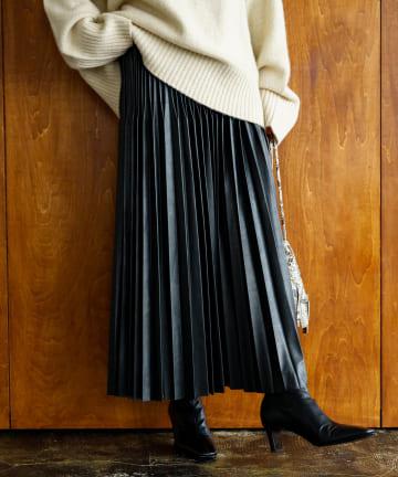 Loungedress(ラウンジドレス) エコレザープリーツスカート