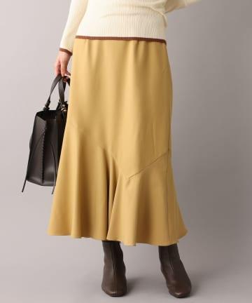un dix cors(アンディコール) 《予約》【動くたび目を惹くゆれ感】アシメ切替スカート