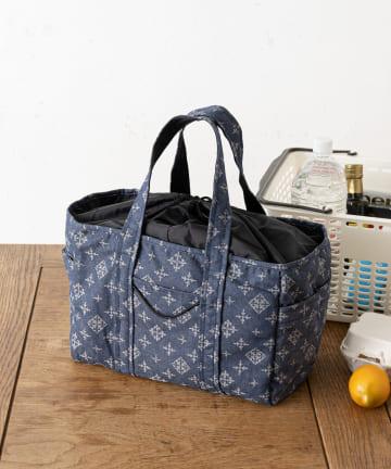 Daily russet(デイリー ラシット) 【制菌・抗菌・防臭】デニムジャガード ショッピングトートバッグ
