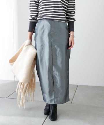 COLLAGE GALLARDAGALANTE(コラージュ ガリャルダガランテ) タフタIラインスカート