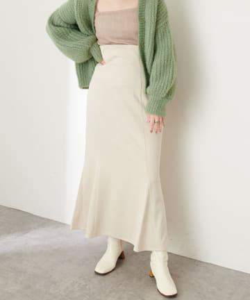 natural couture(ナチュラルクチュール) 【動画・WEB限定カラー有り】ハイウエストスエードマーメイドスカート Mサイズ