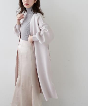 natural couture(ナチュラルクチュール) 【WEB限定カラー有り・大好評リバイバルアイテム】きれいめニットコーディガン
