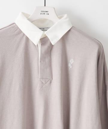 COLONY 2139(コロニー トゥーワンスリーナイン) ワンポイント刺繍 ビッグシルエット ラガーシャツ※ユニセックス対応