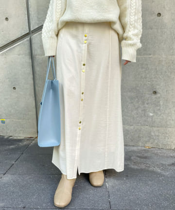 SHENERY(シーナリー) フロントボタンロングスカート