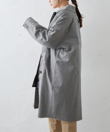pual ce cin(ピュアルセシン) 綿ヘンプヒッコリーコート
