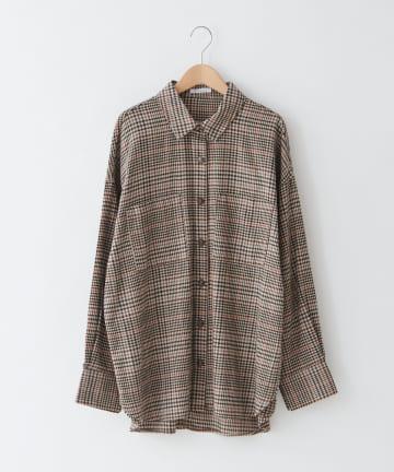 OLIVE des OLIVE OUTLET(オリーブ・デ・オリーブ アウトレット) ビエラチェックBIGシャツ