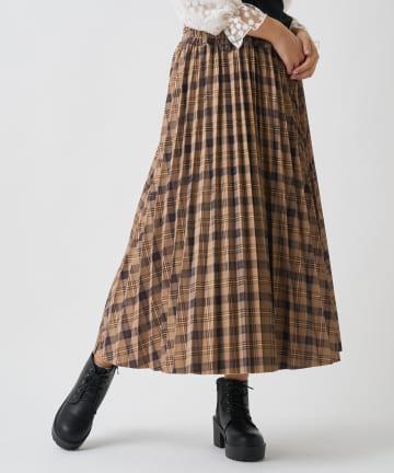 OLIVE des OLIVE OUTLET(オリーブ・デ・オリーブ アウトレット) スエポンチェックリーバシブルスカート