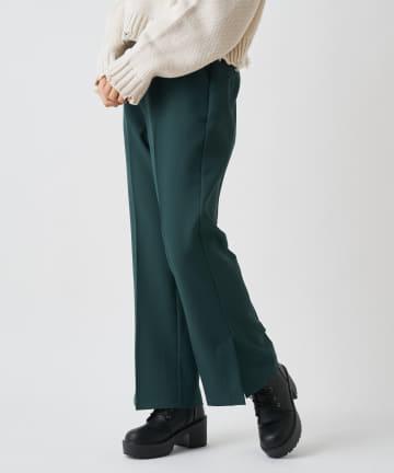 OLIVE des OLIVE OUTLET(オリーブ・デ・オリーブ アウトレット) センタープレス裾スリットセミフレアパンツ