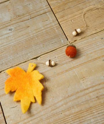 salut!(サリュ) 【ハロウィンの演出に!】フェルト落ち葉オーナメント