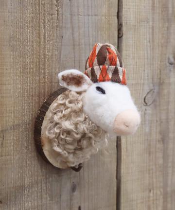 salut!(サリュ) 【お部屋のアクセントに】フェルトの動物フック(SHEEP)