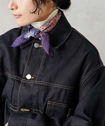 ear PAPILLONNER(イア パピヨネ) 【SUM1 STYLE(スミ スタイル)】別注刺繍スカーフ